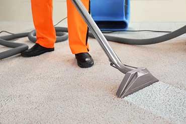 Image of carpet being vacuumed